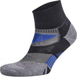 Balega Mens Enduro V-Tech Quarter Socks Black/Charcoal