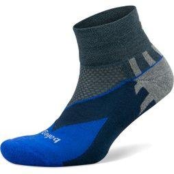 Balega Mens Enduro V-Tech Quarter Socks Charcoal/Cobalt