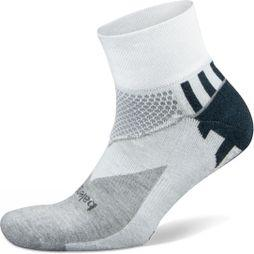 Balega Mens Enduro V-Tech Quarter Socks White/Midnight