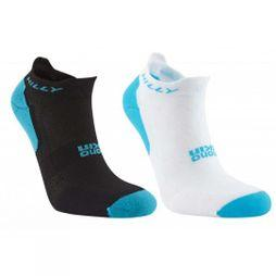 Hilly Women's Tempo Socklets (2 Pack) White/Black/Peacock