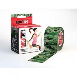 Rocktape 5cm x 5m Kinesiology Tape Roll Green Camo