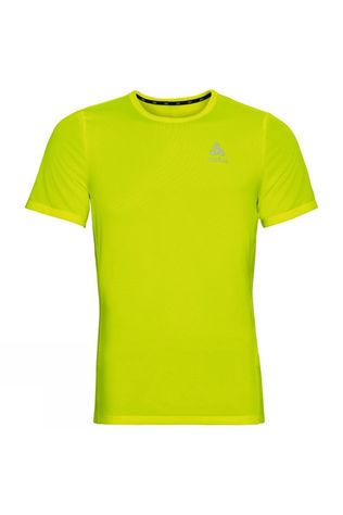 Odlo Mens Element Light Print T-Shirt Safety Yellow (Neon) - Placed Print FW19