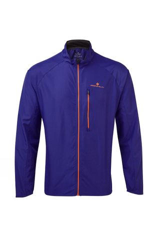Ronhill Men's Everyday Jacket Deep Sea/Cardinal Orange