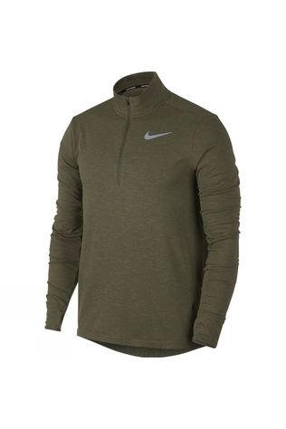 Nike Mens Sphere Half Zip Top 2.0  Olive Canvas Heather