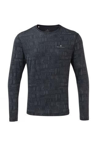 Ronhill Mens Momentum Afterlight L/S Tee Charcoal/Reflect