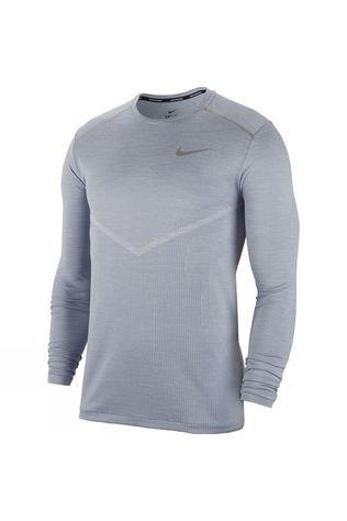 Nike Men's Tech Knit Ultra Long Sleeve Top Indigo Fog