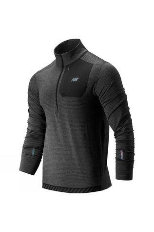 New Balance Heat Grid Half Zip Heather Charcoal
