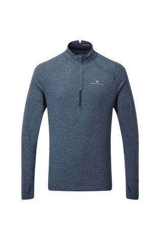 Ronhill Men's Tech Thermal 1/2 Zip Tee DeepNavyMarl/Atlantic