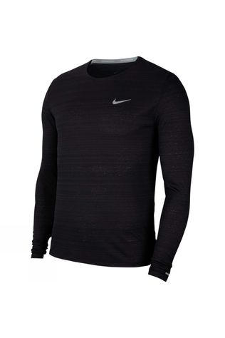 Nike Men's Dri-Fit Miler LS Top Black
