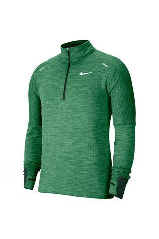 Nike Men's Sphere 1/2 Zip Running Tee Pro Green