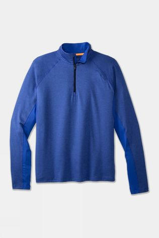 Brooks Men's Dash 1/2 Zip Heather Amparo Blue