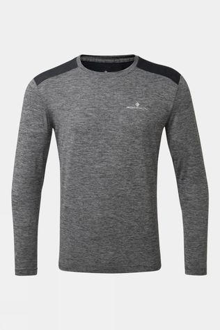 Ronhill Men's Life Long Sleeve Tee Grey Marl