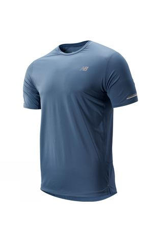 New Balance Mens Ice 2.0 Short Sleeve Top Chambray