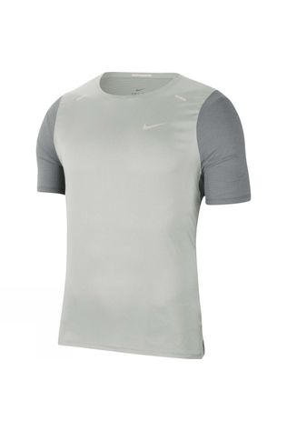 Nike Men's Breathe Rise Hybrid 365 SS Tee Particle Grey