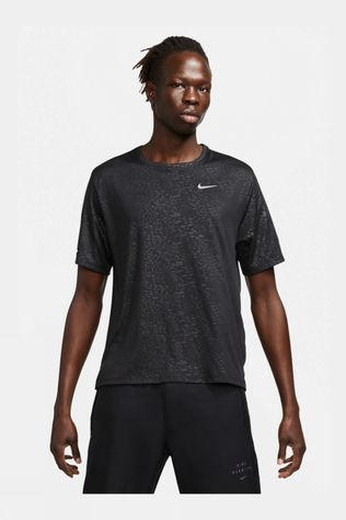 Nike Run Division Dry Fit Miler Short Sleeve Top Black