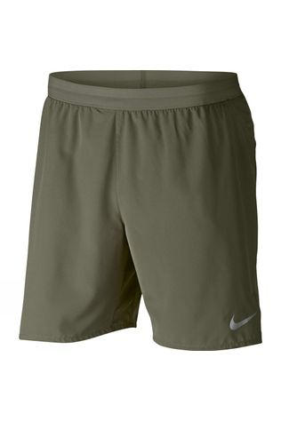 "Nike Mens 7"" Flex Stride Running Shorts Olive Canvas/ Campfire Orange"