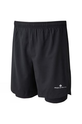 "Ronhill Men's Momentum Twin 7"" Short Black/Charcoal Marl"