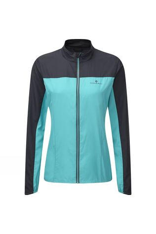 Ronhill Womens Stride Windspeed Jacket 2019 Peacock/Charcoal