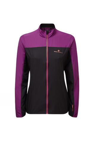 Ronhill Women's Stride Windspeed Jacket Black/Grape Juice