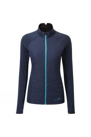 Ronhill Womens Tech Hybrid Jacket Deep Navy/Spa Green