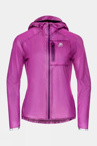 Odlo Womens Zeroweight Dual Dry Waterproof Running Jacket Hyacinth Violet