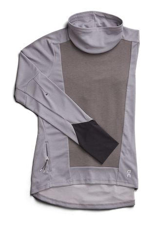 On Womens Long Sleeve Clima-Shirt Fossil/Rock