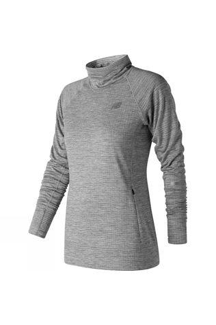 New Balance Womens Heat Pullover Athletic Grey Heather