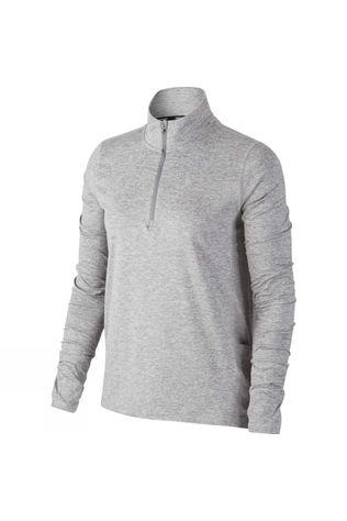 Nike Women's 1/2-Zip Tee Smoke Grey