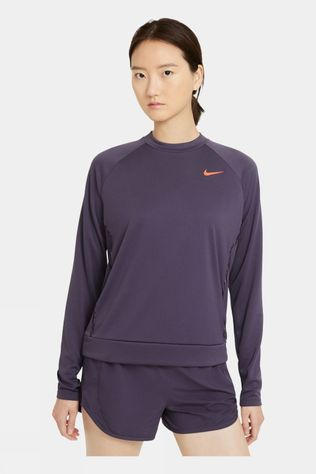 Nike Women's Icon Clash Long Sleeve Top Dark Rasin
