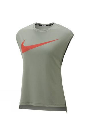 Nike Women's Rebel GX Short Sleeve Top Jade Horizon/Bright Crimson