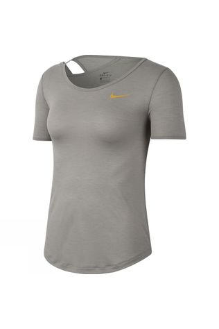 Nike Womens Runway Short Sleeve Top Particle Grey