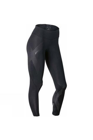 2XU Women's Mid Rise Compression Tights Black/Silver