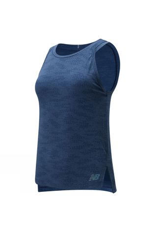 New Balance Womens Q Speed Jacquard Tank Natural Indigo