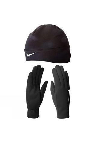 Nike Women's Running Thermal Glove/Beanie Set Black          /Silver