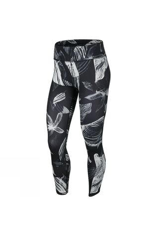 Nike Womens 7/8 Fast Tight Floral Print Black/White
