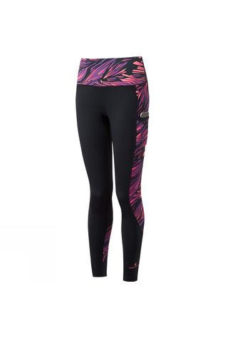 Ronhill Womens Momentum Sculpt Tight Black/Grape Juice Blast