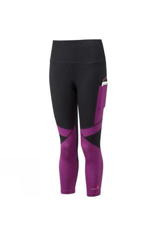 Ronhill Womens Stride Revive Crop Tight Black/Grape Juice