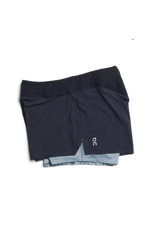 On Womens Running Shorts Black/Sea