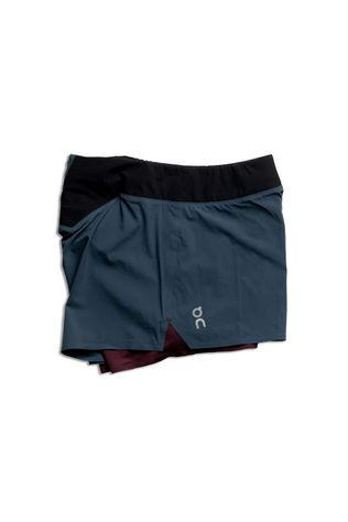 On Womens Running Shorts Navy/Mulberry