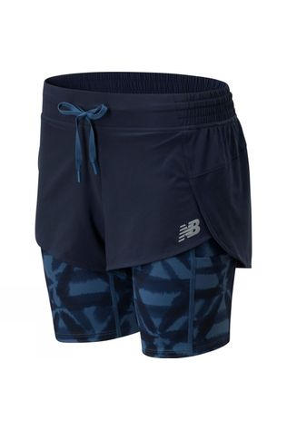 New Balance Womens Printed Impact Run 2in1 Short Eslipse