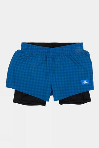 Saysky Women's Checker Pace Shorts Blue Checkerboard