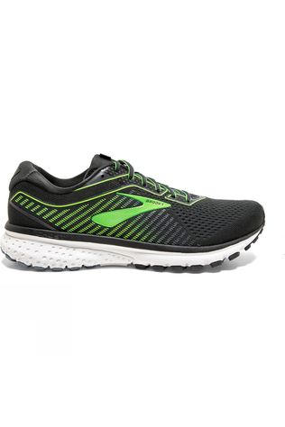 Brooks Men's Ghost 12 Ebony/Grey/Gecko