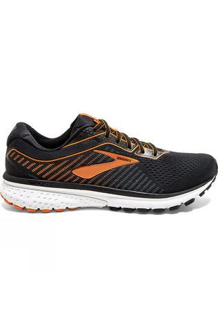 Brooks Men's Ghost 12 Black/ Turbulence/Orange