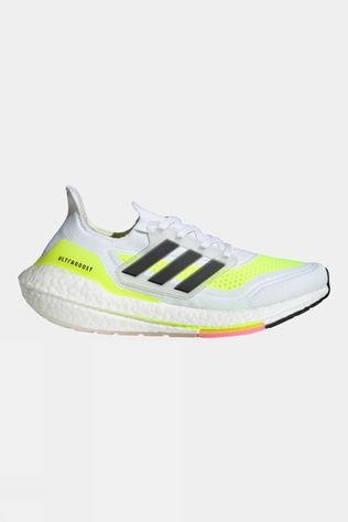 Adidas Mens Ultraboost 21 White/Yellow