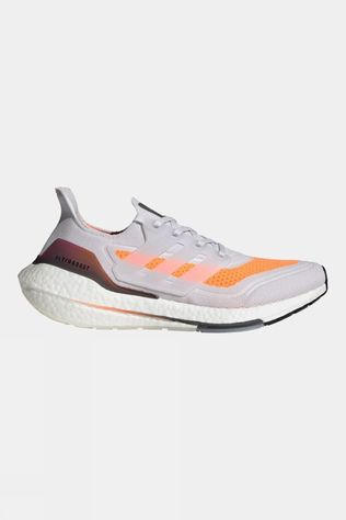 Adidas Mens Ultraboost 21 Dash Grey/Dash Grey/Screaming Orange