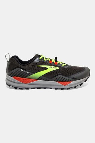 Brooks Mens Cascadia 15 Black/Raven/Cherry Tomato