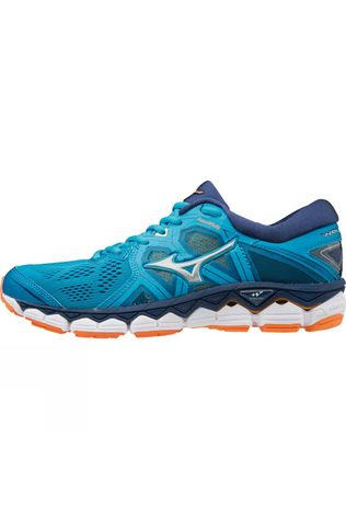 Mizuno  Womens Wave Sky 2 Hawaiian Ocean / Silver / Bird of Paradise