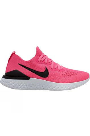 Nike Women's Epic React Flyknit 2 PINK BLAST/BLACK-WHITE