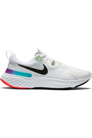 Nike Women's  React Miler White/Black-Vapor Green-Hyper Jade