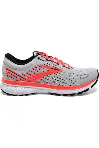 Brooks Women's Ghost 13 Grey/Fiery Coral/White